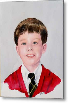 Aidan - Commissioned Portrait Metal Print