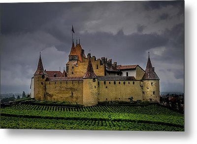 Aigle,switzerland.colour. Metal Print by Robert Brown