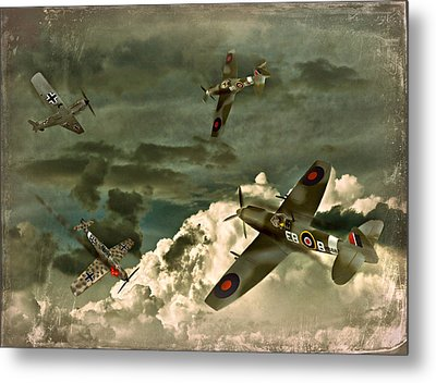 Metal Print featuring the photograph Air Attack by Steven Agius