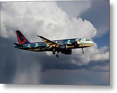 Air Brussels Metal Print
