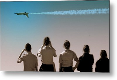 Metal Print featuring the photograph Air Force In Force by Karen Musick