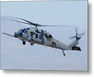 Air Force Sikorsky Hh-60g Blackhawk 90-26228 Mesa Gateway Airport March 11 2011 Metal Print by Brian Lockett