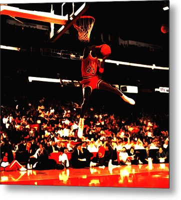 Air Jordan 1988 Slam Dunk Contest 8c Metal Print by Brian Reaves