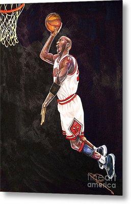 Air Jordan Metal Print by Dave Olsen