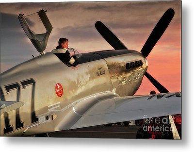 'air Racing Legends Jimmy Leeward And  The Galloping Ghost' Metal Print