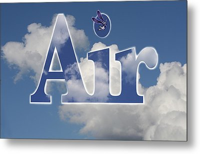 Air Title Metal Print by Alma