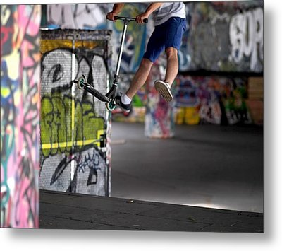 Airborne At Southbank Metal Print by Rona Black