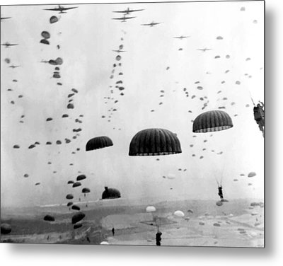 Airborne Mission During Ww2  Metal Print by War Is Hell Store