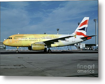 Airbus A319-131, British Airways, G-eupc, Olympic Torch Relay, O Metal Print