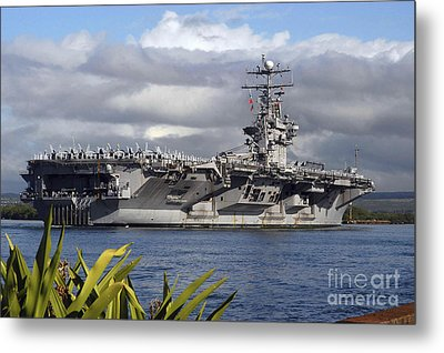 Aircraft Carrier Uss Abraham Lincoln Metal Print by Stocktrek Images