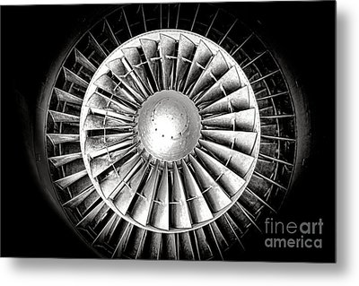 Aircraft Turbofan Engine Metal Print by Olivier Le Queinec