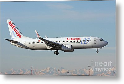 Aireuropa - Boeing 737-800 - Ec-hjq  Metal Print by Amos Dor