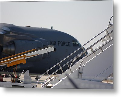 Metal Print featuring the photograph Airforce Plane by Michael Albright