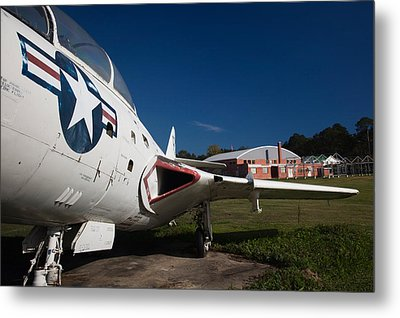 Airplane At A Historic Site, Tuskegee Metal Print by Panoramic Images