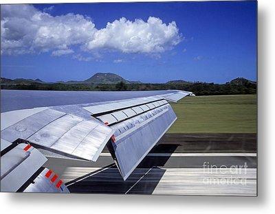 Airplane Taking Off Metal Print