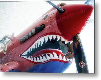 Airplanes Flying Tigers Propeller Metal Print by Thomas Woolworth