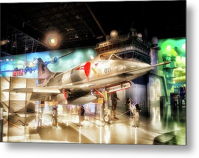 Airplanes Military Navy Jet Pa 08 Metal Print by Thomas Woolworth