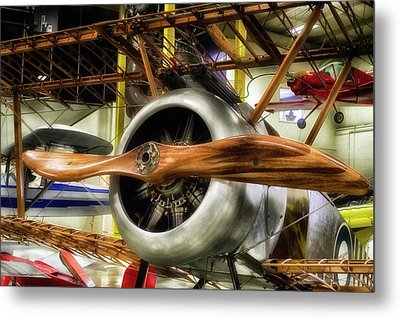 Airplanes Wooden Propeller Sopwith F1 Camel Pa Metal Print by Thomas Woolworth