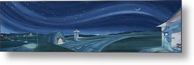 Metal Print featuring the painting Airport Cafe Vi by Scott Kirby