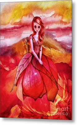 Metal Print featuring the painting Aithne by Mo T