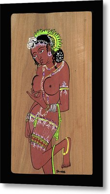 Ajanta Cave Beauty  Metal Print