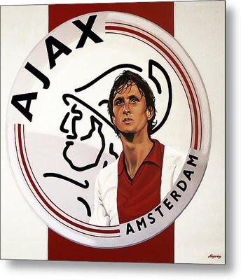Ajax Amsterdam Painting Metal Print