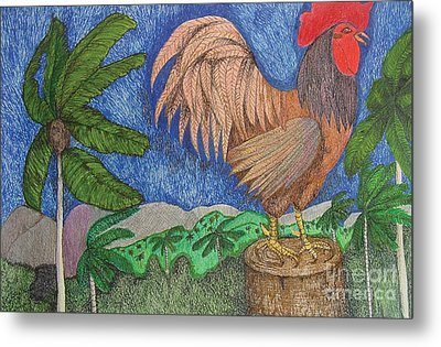 Al Cantio Del Gallo The Sing Song Of The Rooster From The Charivary Series Metal Print