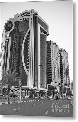 Al Durrah Tower - Sharjah Metal Print by Hussein Kefel