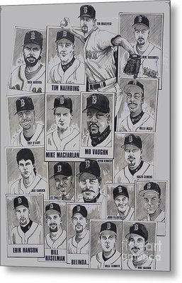 Al East Champions Red Sox Newspaper Poster Metal Print