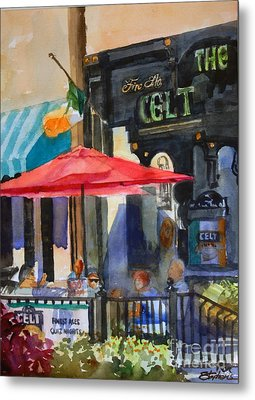 Al Fresco At The Celt Metal Print