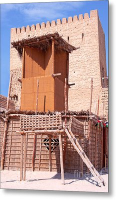 Al Manama Summer Bed And House With Cooling Tower Metal Print by Chris Smith