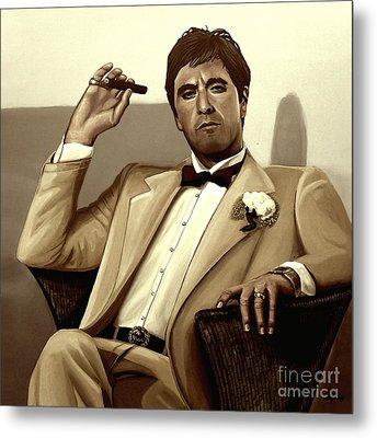 Al Pacino In Scarface Metal Print
