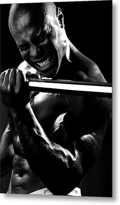Al Work Out Black And White 2 Metal Print