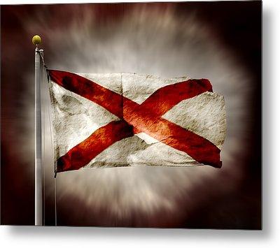 Alabama State Flag Metal Print by Steven Michael