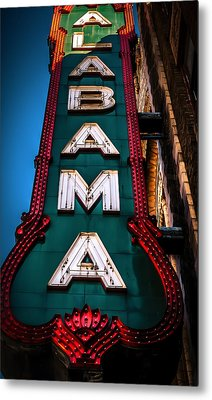 Alabama Theater Sign 1 Metal Print by Phillip Burrow