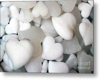 Alabaster Hearts Metal Print