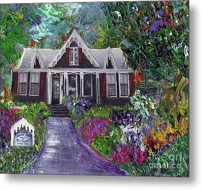 Alameda 1854 Gothic Revival - The Webster House Metal Print by Linda Weinstock