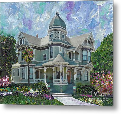 Alameda 1893  Queen Anne  Metal Print by Linda Weinstock