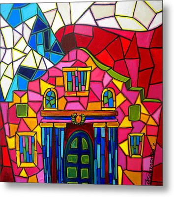 Alamo Mosaic Two Metal Print by Patti Schermerhorn