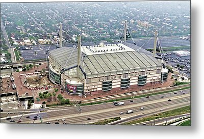 Metal Print featuring the digital art Alamodome - San Antonio, Texas by Wendy J St Christopher