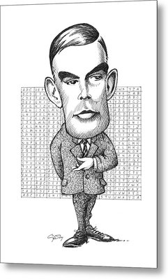 Alan Turing, British Mathematician Metal Print by Gary Brown