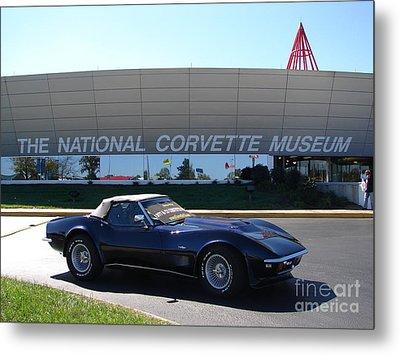 Alans 1968 Corvette Metal Print by Jack Moskovita