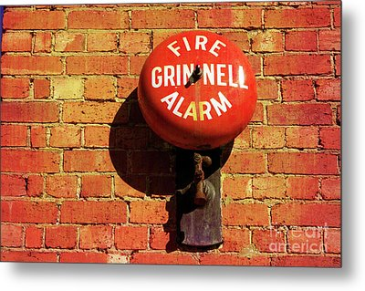 Metal Print featuring the photograph Alarm Bell by Stephen Mitchell