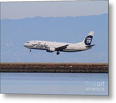 Alaska Airlines Jet Airplane At San Francisco International Airport Sfo . 7d12232 Metal Print by Wingsdomain Art and Photography