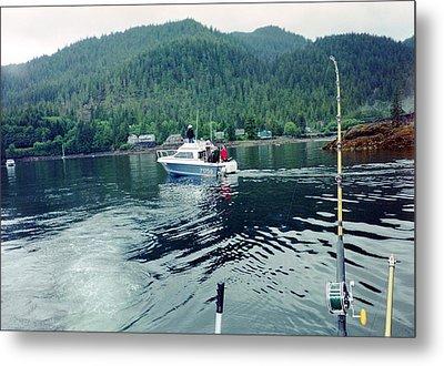 Metal Print featuring the photograph Alaska Fishing by Judyann Matthews
