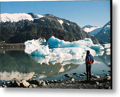 Metal Print featuring the photograph Alaska Glacier Lake by Judyann Matthews