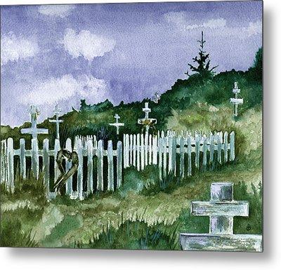 Alaska Graveyard  Metal Print by Brenda Owen