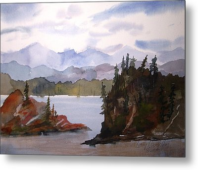 Alaska Inside Passage Metal Print by Larry Hamilton