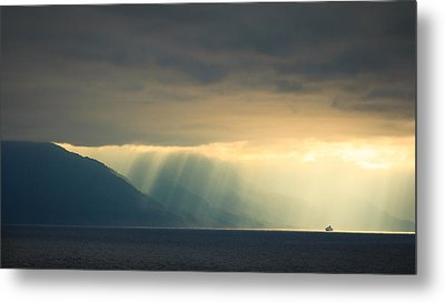 Alaska Inside Passage Under The Clouds Metal Print by Joni Eskridge