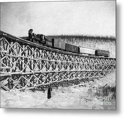 Alaska: Railroad, 1916 Metal Print by Granger